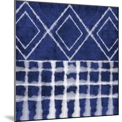 Blue Shibori D-Linda Woods-Mounted Art Print
