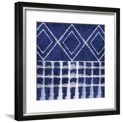 Blue Shibori D-Linda Woods-Framed Art Print