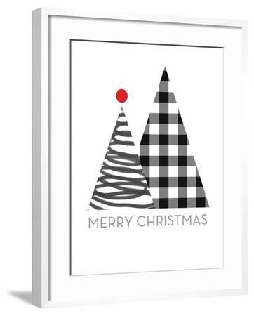 Modern Merry Christmas-Linda Woods-Framed Art Print