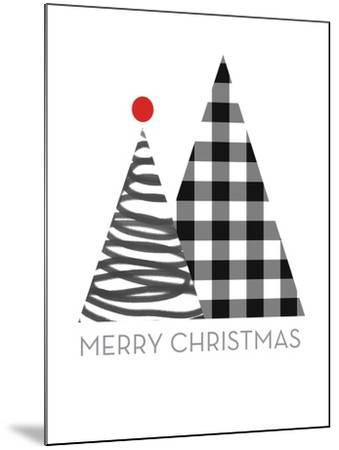 Modern Merry Christmas-Linda Woods-Mounted Art Print