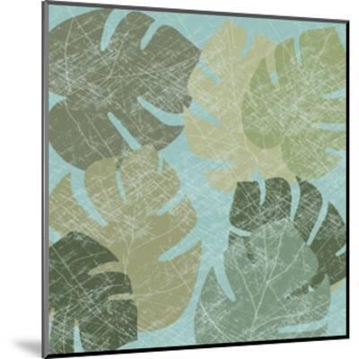 Faded Tropical Leaves II--Mounted Art Print