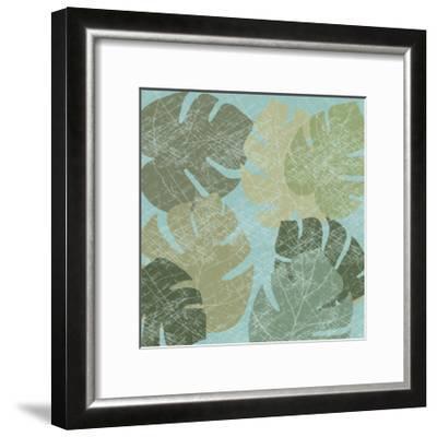 Faded Tropical Leaves II--Framed Art Print