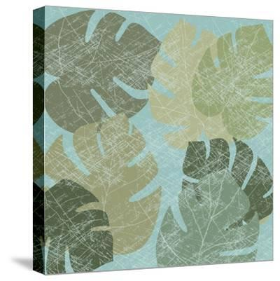 Faded Tropical Leaves II--Stretched Canvas Print