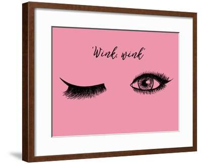 Lash Chat IV--Framed Art Print