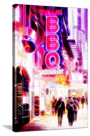 Manhattan Shine - BBQ-Philippe Hugonnard-Stretched Canvas Print
