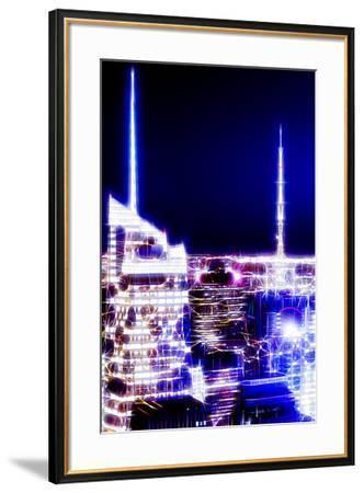 Manhattan Shine - Night Dark blue-Philippe Hugonnard-Framed Photographic Print