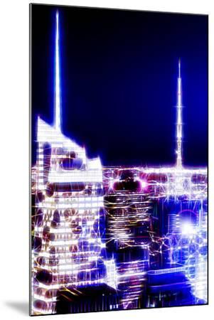 Manhattan Shine - Night Dark blue-Philippe Hugonnard-Mounted Photographic Print