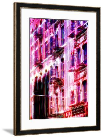 Manhattan Shine - Red Facade-Philippe Hugonnard-Framed Photographic Print