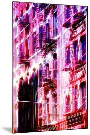 Manhattan Shine - Red Facade-Philippe Hugonnard-Mounted Photographic Print
