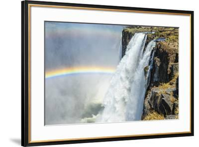 Africa, Zambia. The Victoria Falls and the devil's pool-Catherina Unger-Framed Photographic Print