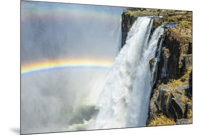 Africa, Zambia. The Victoria Falls and the devil's pool-Catherina Unger-Mounted Photographic Print