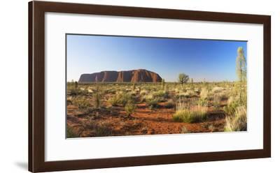 Uluru (UNESCO World Heritage Site), Uluru-Kata Tjuta National Park, Northern Territory, Australia-Ian Trower-Framed Photographic Print