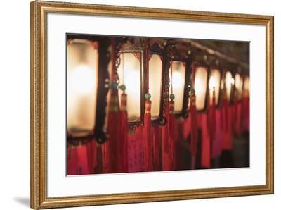 Lanterns at Man Mo Temple, Sheung Wan, Hong Kong Island, Hong Kong, China-Ian Trower-Framed Photographic Print