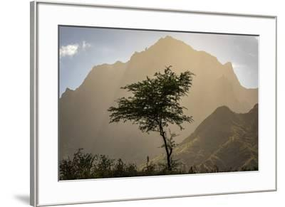 africa, Cape Verde, Santiago. View of the Pico da Antonia-Catherina Unger-Framed Photographic Print