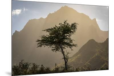 africa, Cape Verde, Santiago. View of the Pico da Antonia-Catherina Unger-Mounted Photographic Print