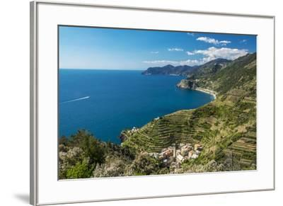 Europe, Italy, Liguria. View over Manarola, Cinque Terre.-Catherina Unger-Framed Photographic Print
