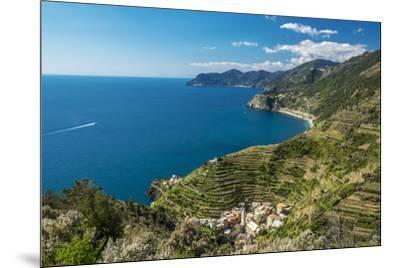 Europe, Italy, Liguria. View over Manarola, Cinque Terre.-Catherina Unger-Mounted Photographic Print