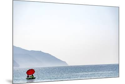 Europe, Italy, Liguria. a Pedalo in Monterosso, Cinque Terre.-Catherina Unger-Mounted Photographic Print