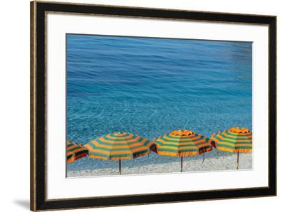 Europe, Italy, Liguria. Summer in Monterosso, Cinque Terre.-Catherina Unger-Framed Photographic Print