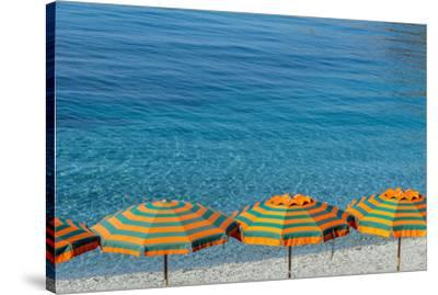 Europe, Italy, Liguria. Summer in Monterosso, Cinque Terre.-Catherina Unger-Stretched Canvas Print