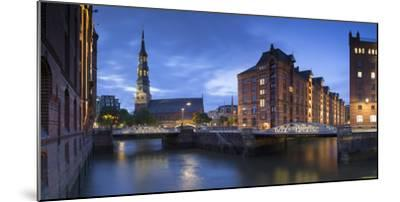 St Katharinen Church and warehouses of Speicherstadt (UNESCO World Heritage Site), Hamburg, Germany-Ian Trower-Mounted Photographic Print