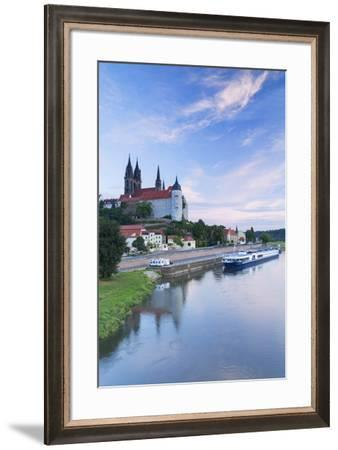 Cathedral, Albrechtsburg and River Elbe, Meissen, Saxony, Germany-Ian Trower-Framed Photographic Print
