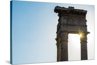 Europe, Italy, Rome. Temple of Apollo Sosiano-Catherina Unger-Stretched Canvas Print