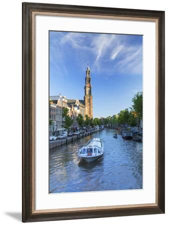 Prinsengracht canal and Westerkerk, Amsterdam, Netherlands-Ian Trower-Framed Photographic Print