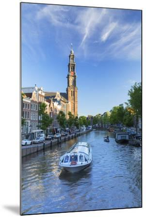 Prinsengracht canal and Westerkerk, Amsterdam, Netherlands-Ian Trower-Mounted Photographic Print