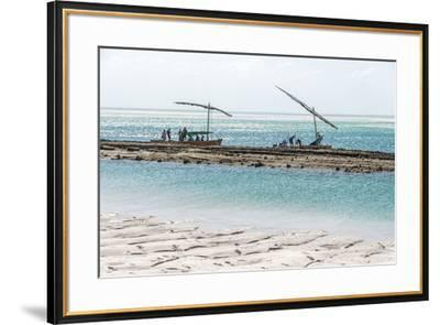 Africa, Mozambique, Bazaruto Islands. Fishermen at the Bazaruto Islands.-Catherina Unger-Framed Photographic Print