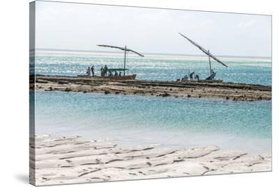 Africa, Mozambique, Bazaruto Islands. Fishermen at the Bazaruto Islands.-Catherina Unger-Stretched Canvas Print