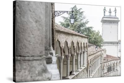 europe, Italy, Friuli-Venezia-Giulia. The arcades of the Piazzale del Castello in Udine.-Catherina Unger-Stretched Canvas Print