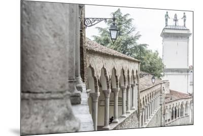 europe, Italy, Friuli-Venezia-Giulia. The arcades of the Piazzale del Castello in Udine.-Catherina Unger-Mounted Photographic Print