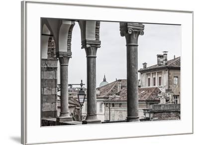 Europe, Italy, Friuli-Venezia-Giulia. The arcades of the Piazzale del Castello in Udine.-Catherina Unger-Framed Photographic Print