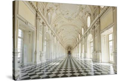 Europe, Italy, Piedmont. The Galleria Grande of the Venaria reale.-Catherina Unger-Stretched Canvas Print