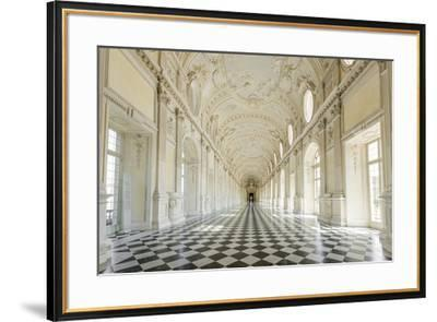 Europe, Italy, Piedmont. The Galleria Grande of the Venaria reale.-Catherina Unger-Framed Photographic Print