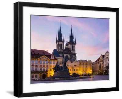 Czech Republic, Prague, Stare Mesto (Old Town). Tyn Cathedral on Staromestske namesti, Old Town Squ-Jason Langley-Framed Photographic Print