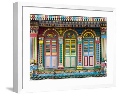 Singapore, Republic of Singapore, Southeast Asia. Colorful architecture in Little India.-Marco Bottigelli-Framed Photographic Print