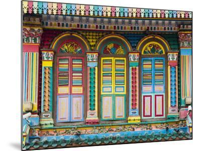 Singapore, Republic of Singapore, Southeast Asia. Colorful architecture in Little India.-Marco Bottigelli-Mounted Photographic Print