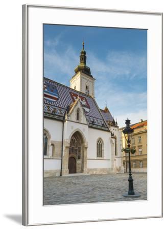 St. Mark's Church, Old Town, Zagreb, Croatia-Jon Arnold-Framed Photographic Print