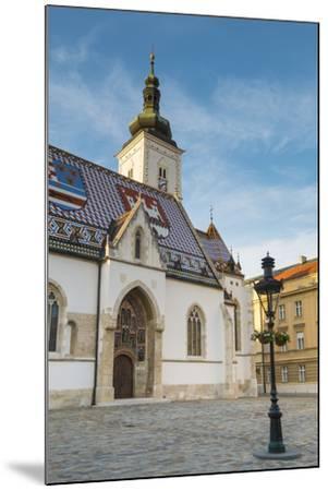 St. Mark's Church, Old Town, Zagreb, Croatia-Jon Arnold-Mounted Photographic Print