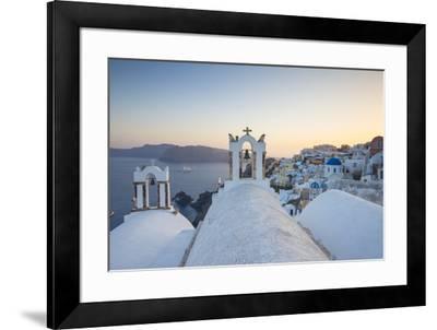 Oia, Santorini (Thira), Cyclades Islands, Greece-Jon Arnold-Framed Photographic Print