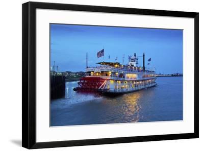 Louisiana, New Orleans, Natchez Steamboat, Mississippi River-John Coletti-Framed Photographic Print