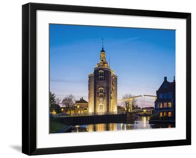 Netherlands, North Holland, Enkhuizen. Drommedaris tower, historic former city gate at the entrance-Jason Langley-Framed Photographic Print