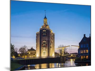 Netherlands, North Holland, Enkhuizen. Drommedaris tower, historic former city gate at the entrance-Jason Langley-Mounted Photographic Print