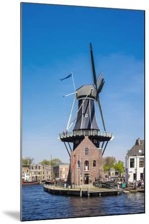 Netherlands, North Holland, Haarlem. Windmill De Adriaan on the Spaarne River.-Jason Langley-Mounted Photographic Print