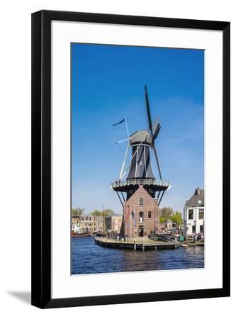 Netherlands, North Holland, Haarlem. Windmill De Adriaan on the Spaarne River.-Jason Langley-Framed Photographic Print