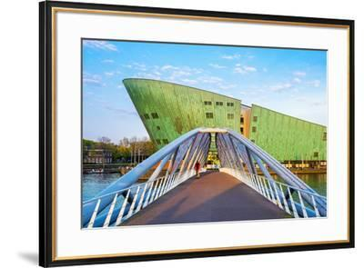 Netherlands, North Holland, Amsterdam. Science Center NEMO science museum, designed by Renzo Piano.-Jason Langley-Framed Photographic Print