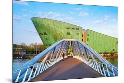 Netherlands, North Holland, Amsterdam. Science Center NEMO science museum, designed by Renzo Piano.-Jason Langley-Mounted Photographic Print