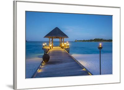 Jetty on the Anantara Dhigu resort, South Male Atoll, Maldives-Jon Arnold-Framed Photographic Print